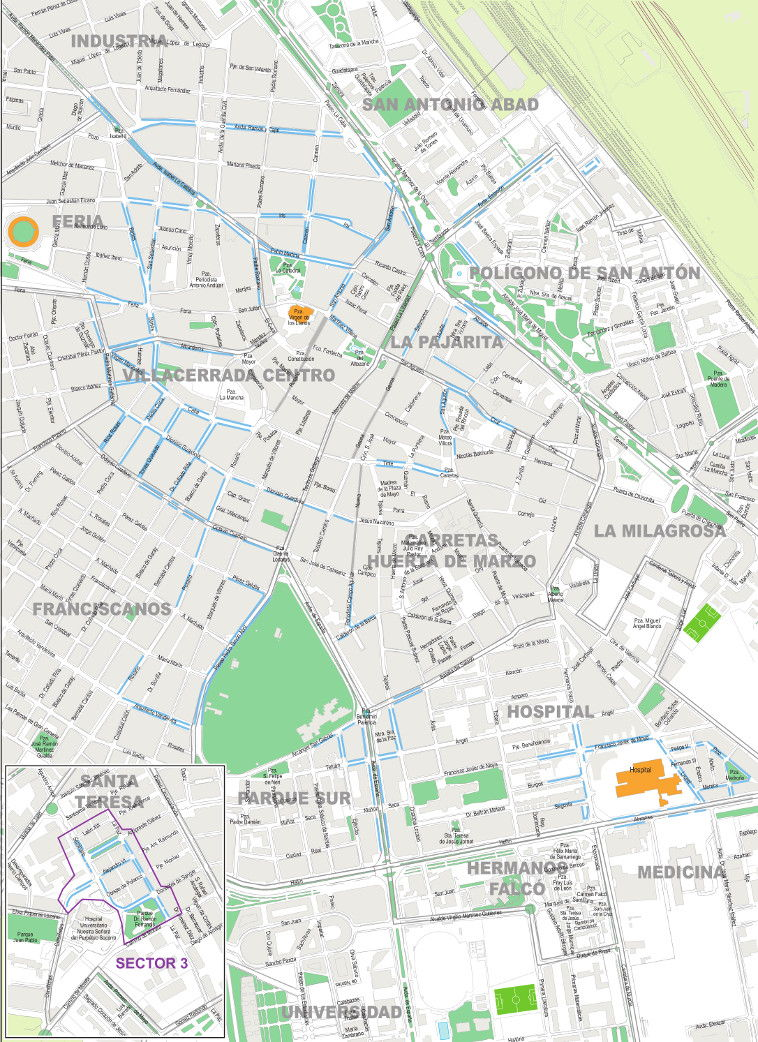 Mapa zona azul Albacete