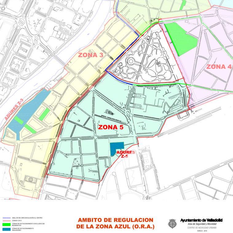 Mapa zona azul Valladolid plano zona 5