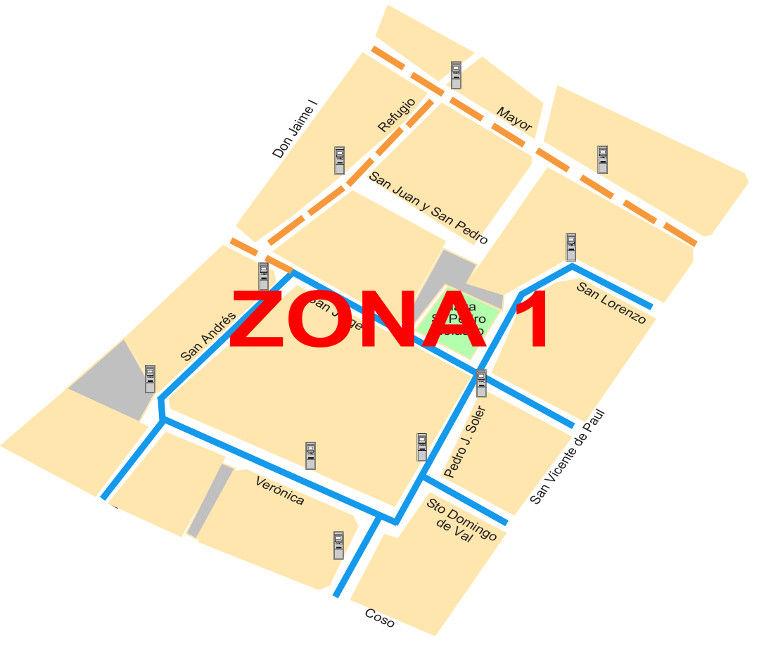 Mapa zona azul Zaragoza Zona 1