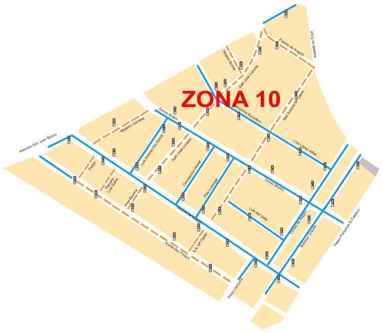 Mapa zona azul Zaragoza Zona 10