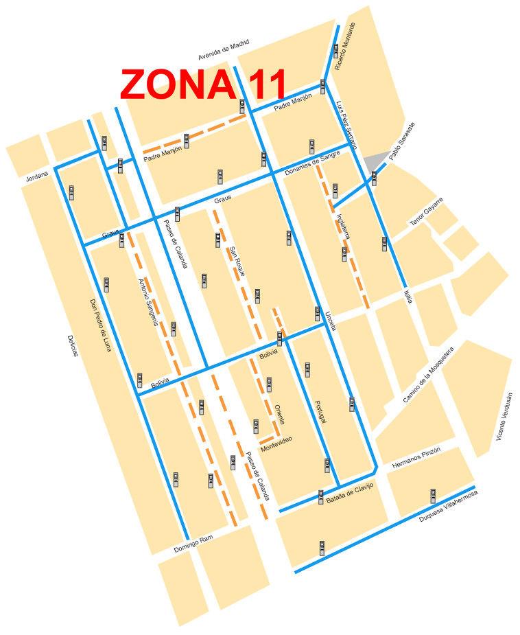 Mapa zona azul Zaragoza Zona 11