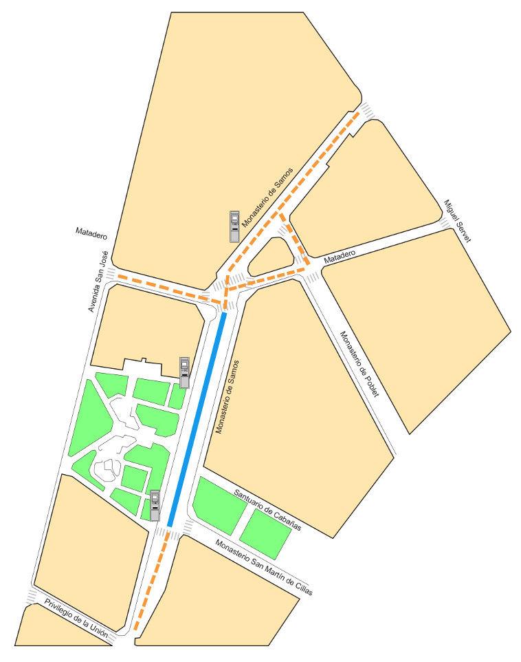 Mapa zona azul Zaragoza Zona 13