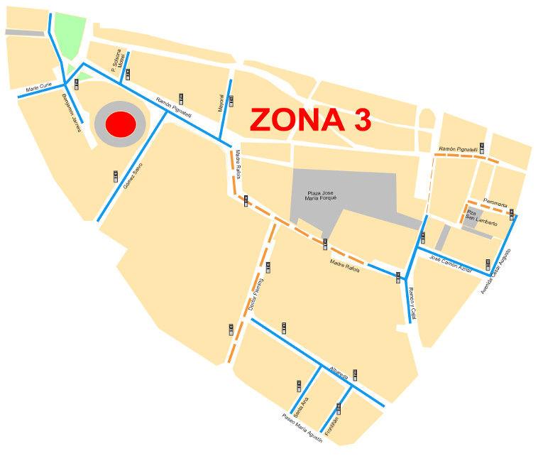 Mapa zona azul Zaragoza Zona 3