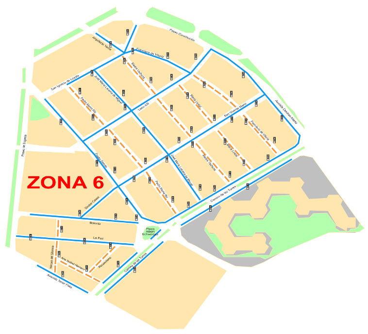 Mapa zona azul Zaragoza Zona 6