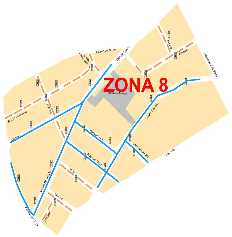 Mapa zona azul Zaragoza Zona 7