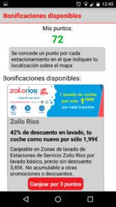 Bonificaciones en la app de zona azul de Zaragoza