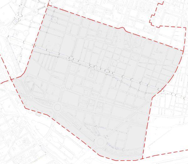 Plano zona azul Valencia distrito Camins al Grau