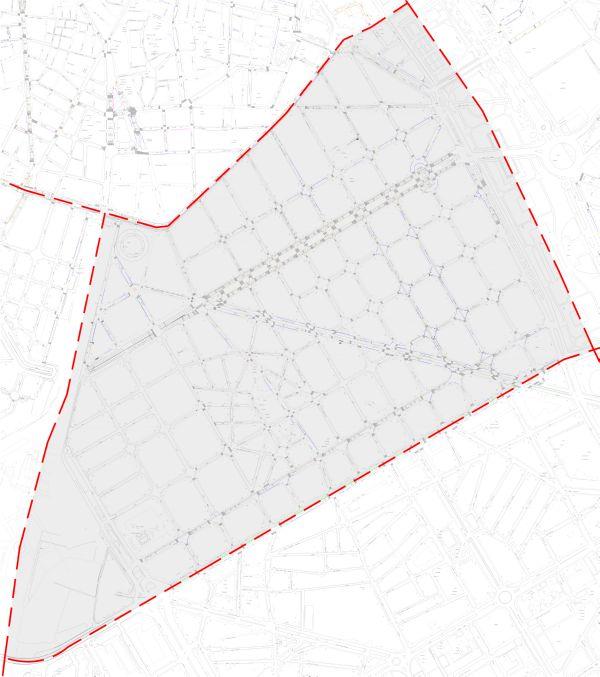 Plano zona azul valencia distrito l´eixample