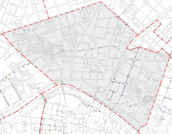 Plano zona azul Valencia distrito La Saïdia