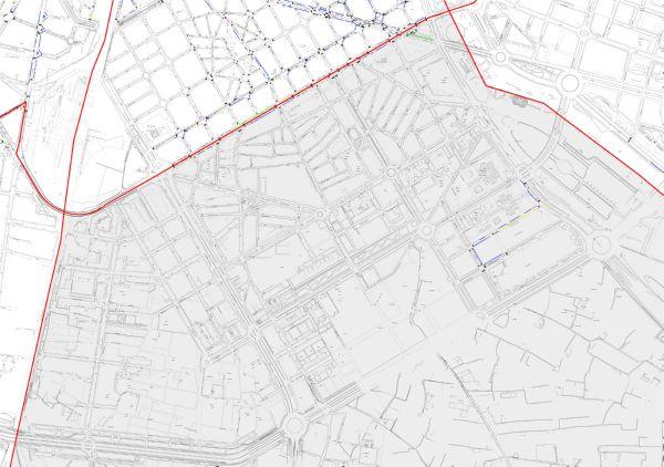 Plano zona azul Valencia distrito Quatre Carreres