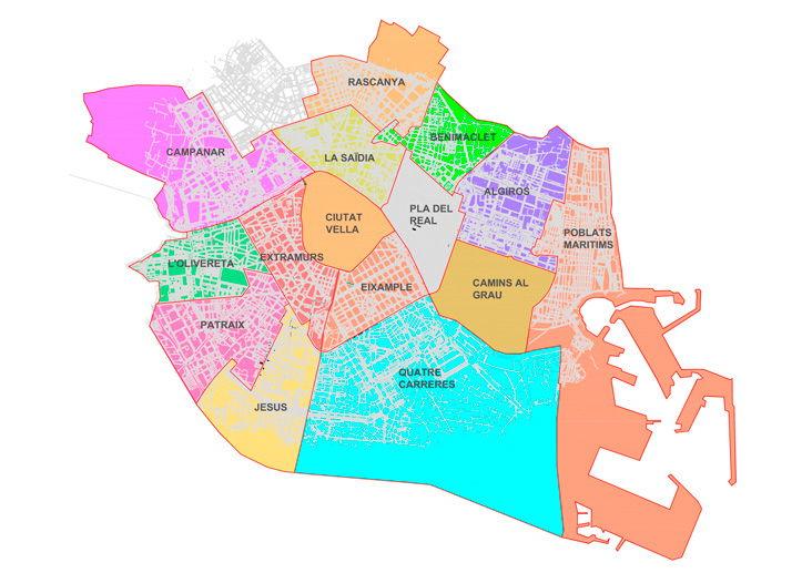 Plano zona azul valencia