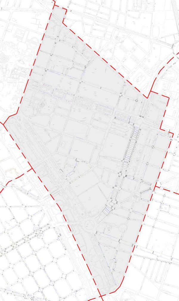 Plano zona azul Valencia distrito El Plá del Real