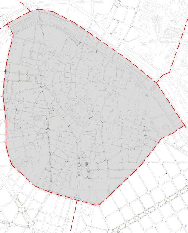 Plano zona azul distrito Ciutat Vella